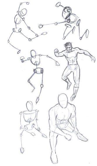 Superheroes Drawing