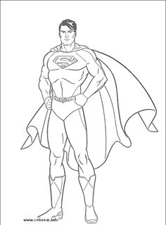 236x320 Color Pages Of Superman Superman, Superman Picture Coloring
