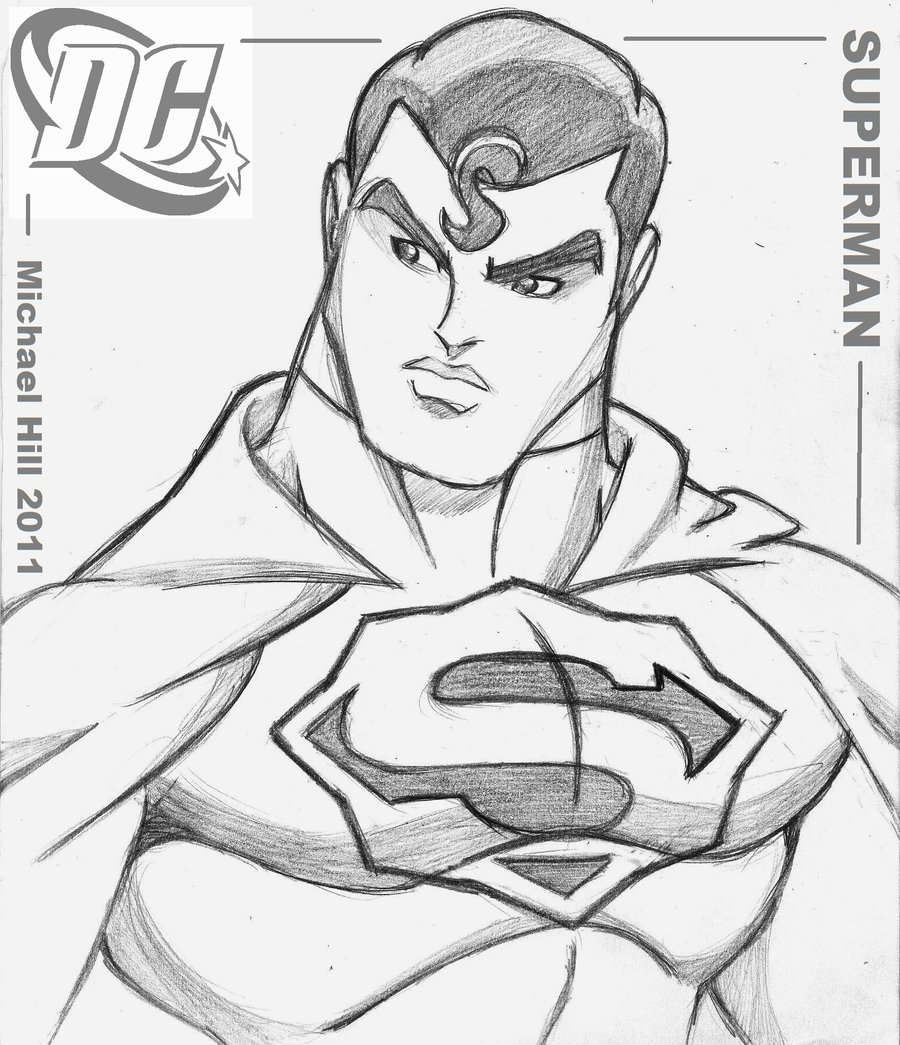 Superman Cartoon Drawing