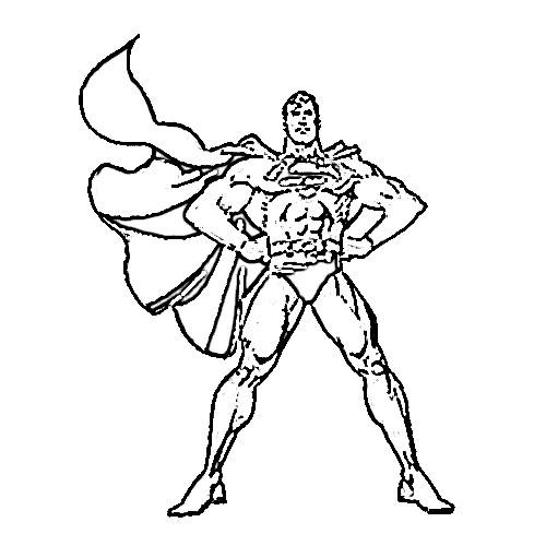 500x500 Superman Cartoon Sketch
