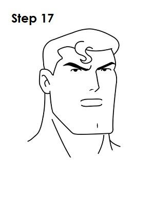 300x388 Draw Superman Step 17 Crafts Cartoon Drawing