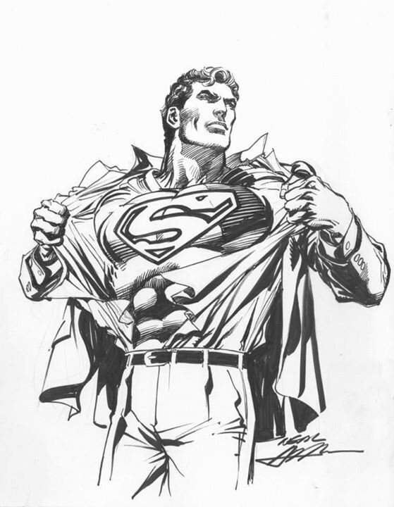 Superman Drawing