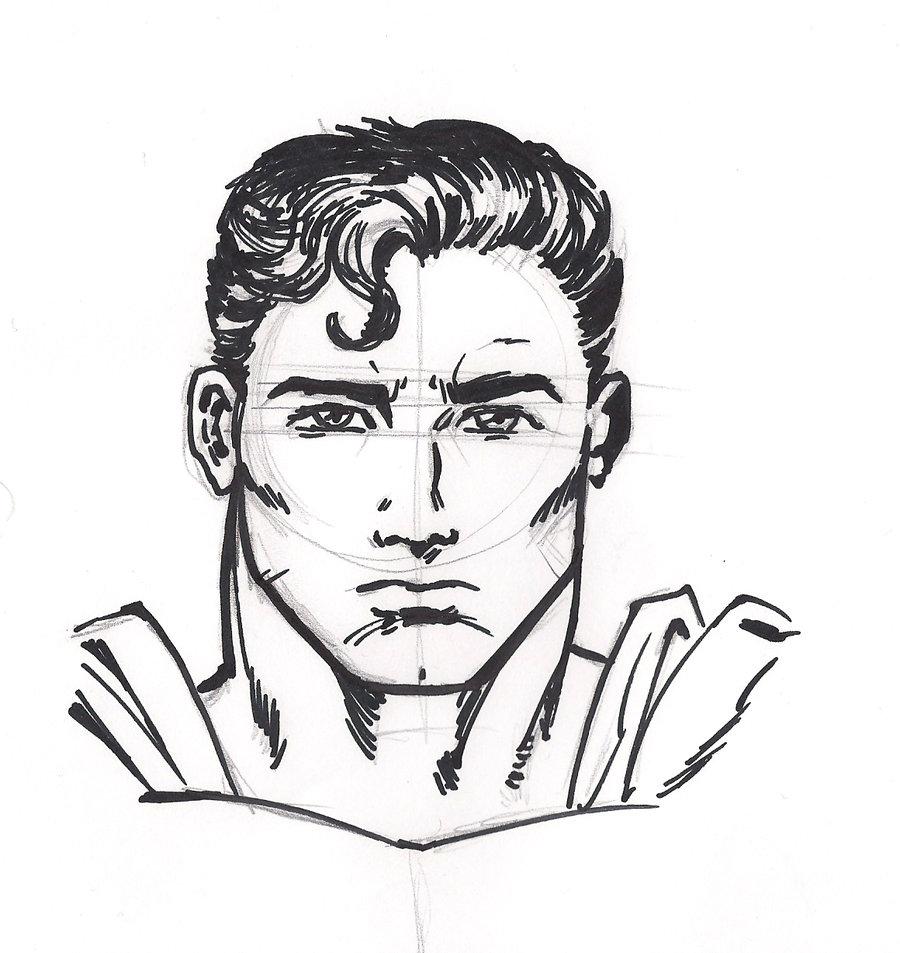 900x953 Sketch Superman By Pollomaxx