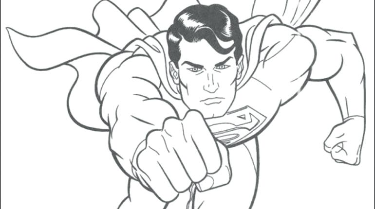 770x430 Superman Color Page Drawing Superman Superman Coloring Pages