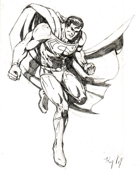 493x600 Superman Drawing Kenny Velez