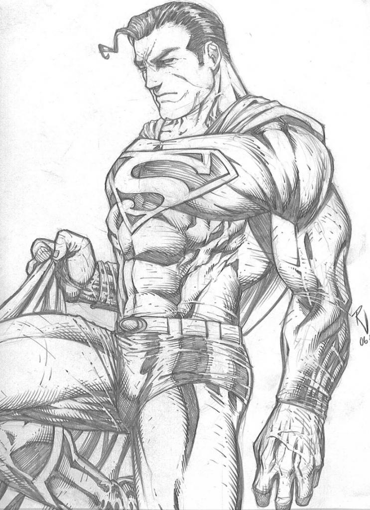 743x1024 Superman Pencil Drawings Superman Rudyvasquez