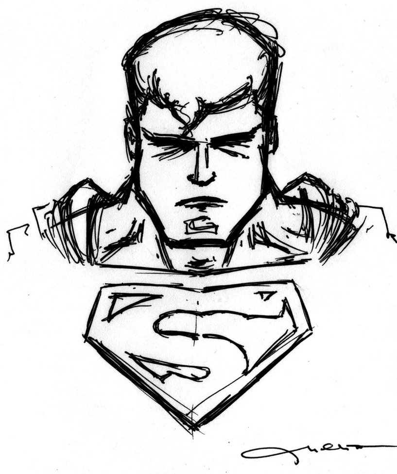 817x977 Superman Simple Drawing How To Draw Classic Superman