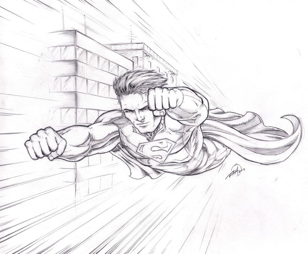 983x812 Superman Sketch By Robert A. Marzullo By Robertmarzullo