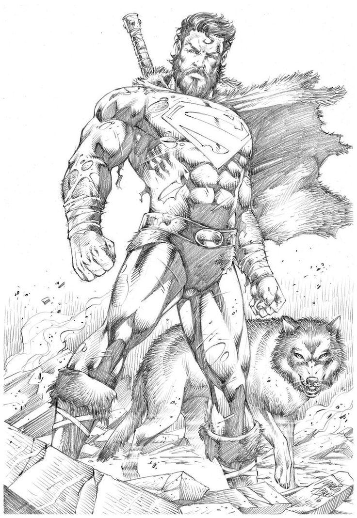 736x1069 Drawn Fist Superman