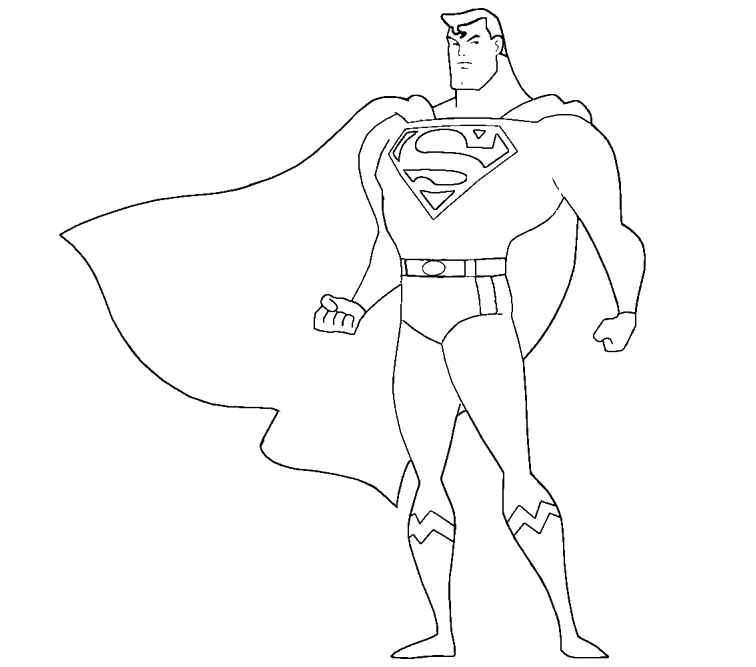 756x667 Easy Superman Coloring Pages Easy Coloring Pages For Girls