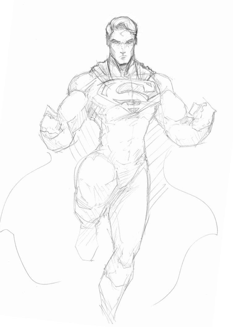 754x1059 Gallery Superman Pencil Sketch,