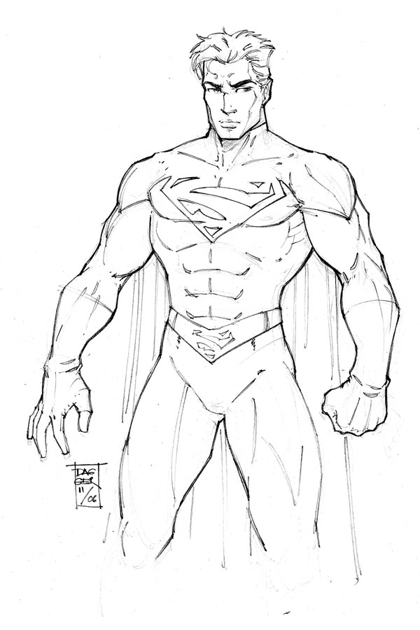 600x900 Pictures Pencil Drawing Superman,