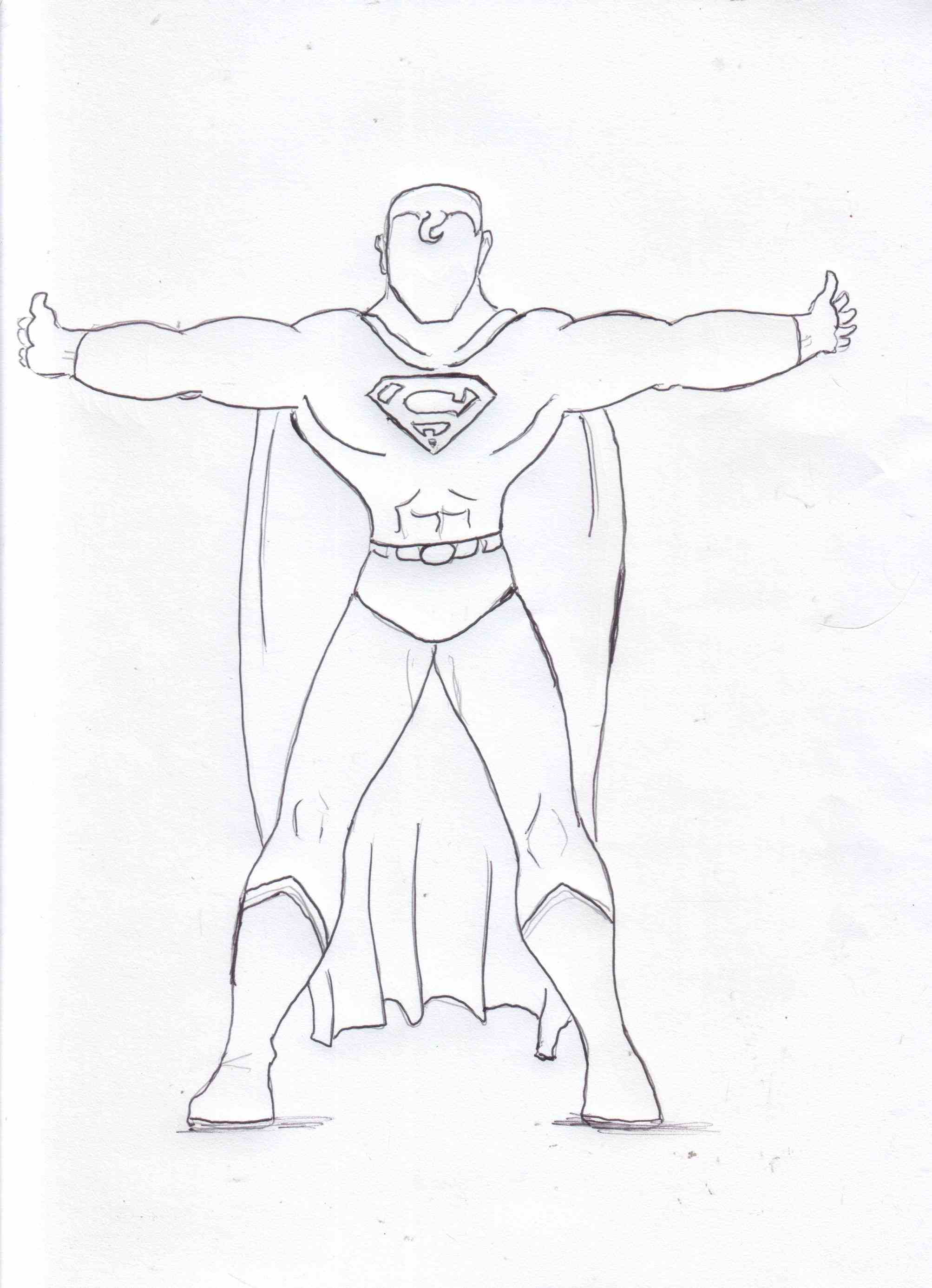 2006x2771 Superman Drawing Easy