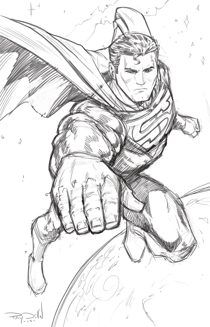 675x1050 Ray Dillon Sketches! Superman The Man Of Steel