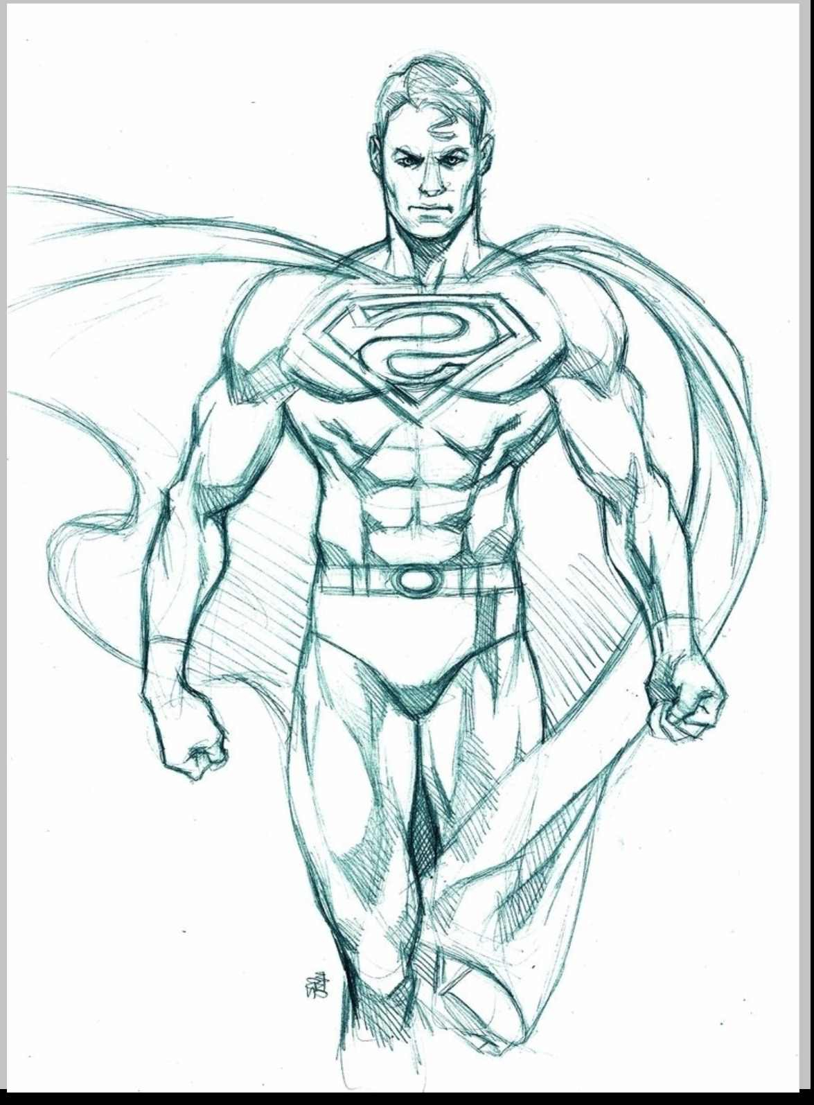 1175x1595 Superman Pencil Sketch Rough Pencil Drawings Drawing Examples
