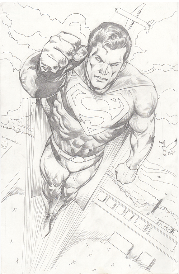 575x880 Superman Pencils Pinup 2016 By Rnabrandent