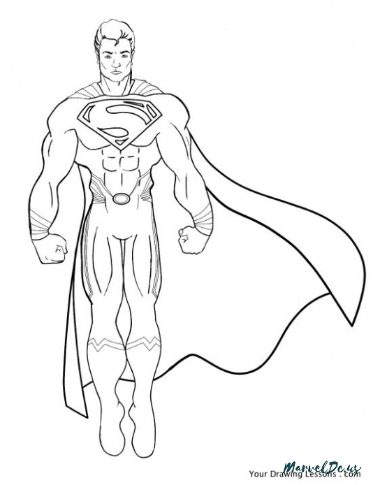 534x694 Ten Disadvantages Of Cool Superman Pictures To Draw And How You