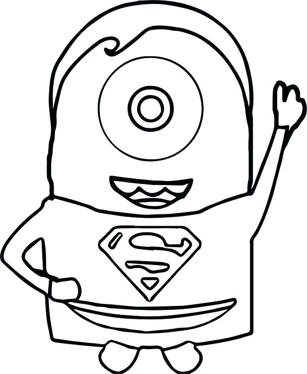 618x752 Printable Superman Coloring Pages To Print