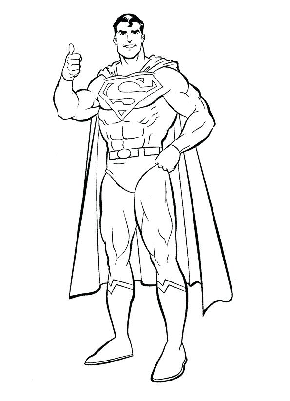 595x822 Superman Coloring Pages Free Together With