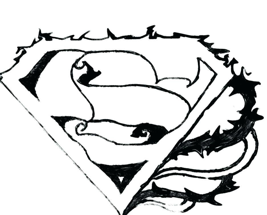 936x752 Superman Logo Coloring Pages Batman Emblem Coloring Pages Adult