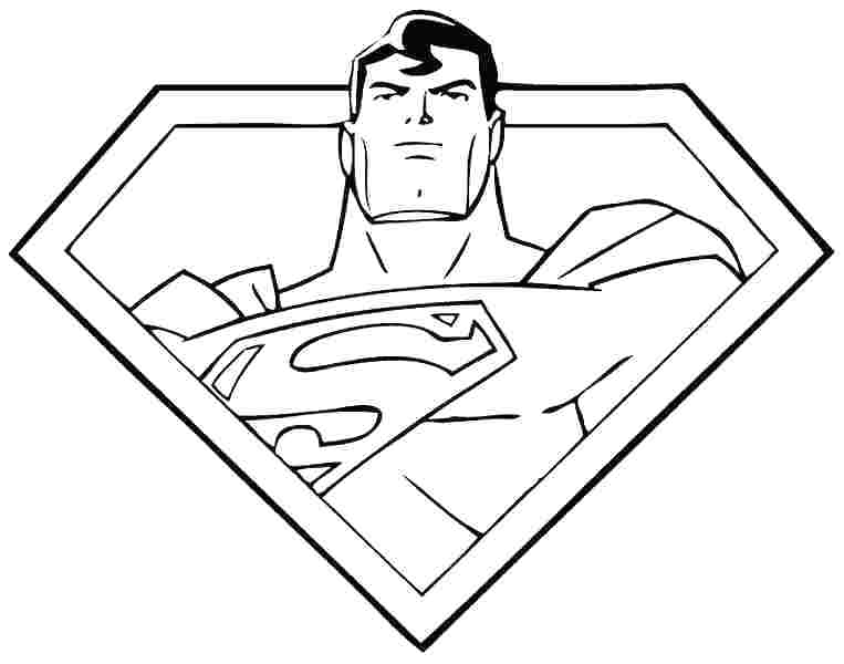 763x600 Superman Printable Coloring Pages Superman Color Page Printable