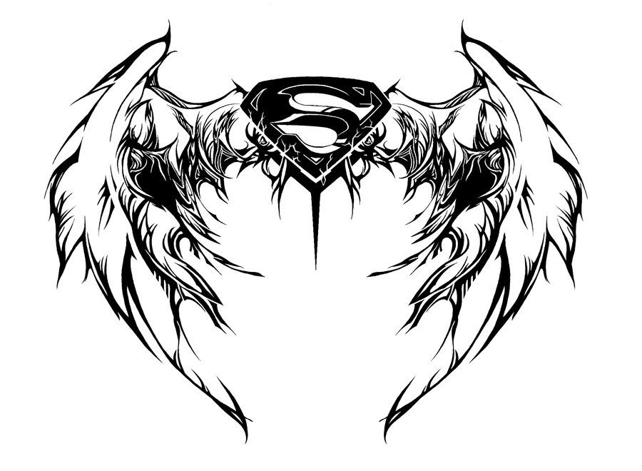 Line Drawing Feather : Superman drawing logo at getdrawings free for personal use