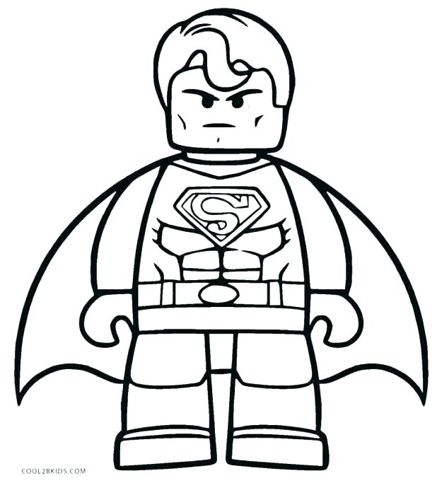 618x683 Superman Printable Coloring Pages