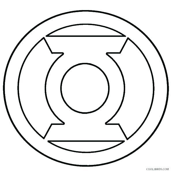 600x600 Superman Symbol Coloring Pages