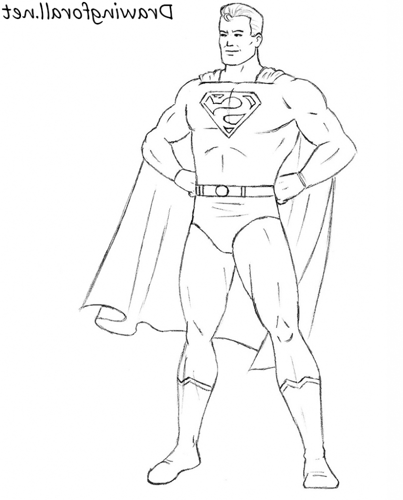 Superman Drawing Pictures At GetDrawings