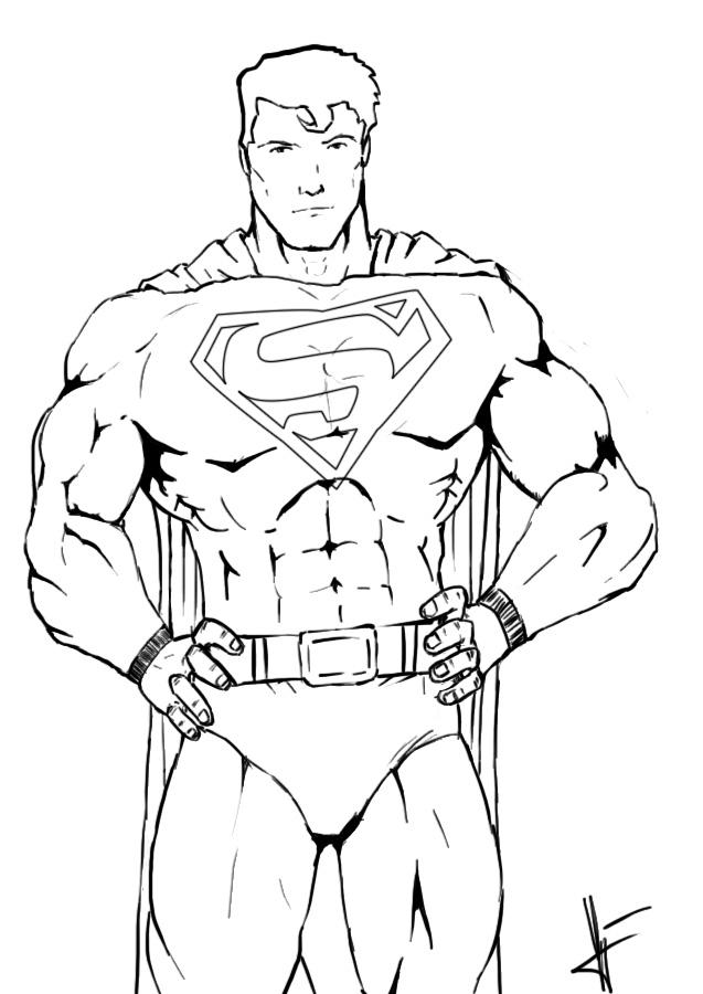 superman sketch step by step