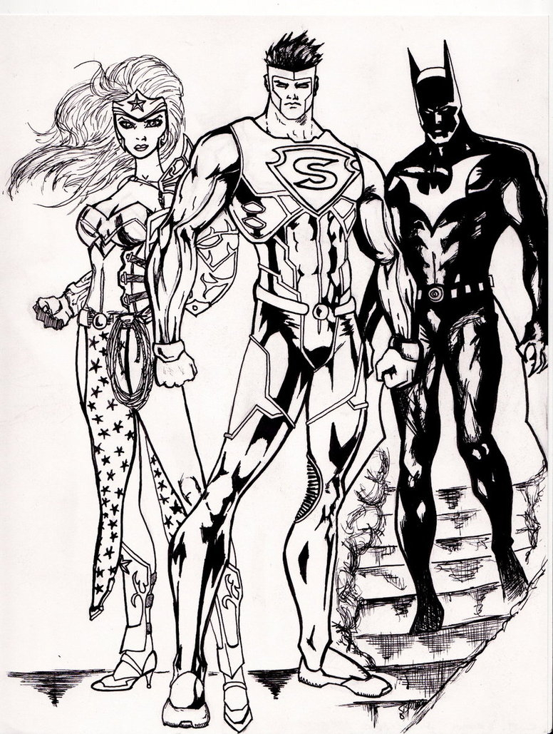 776x1029 Drawings Of Wonder Woman And Batman Easy