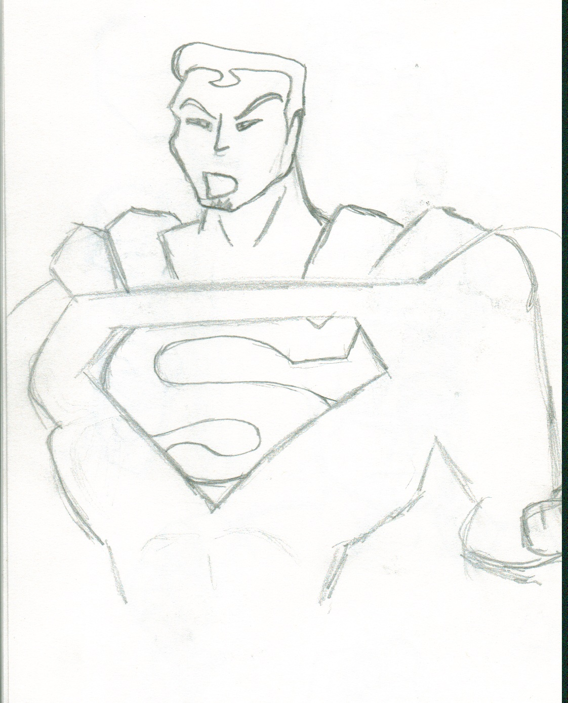 1122x1388 Drawn Superman Body