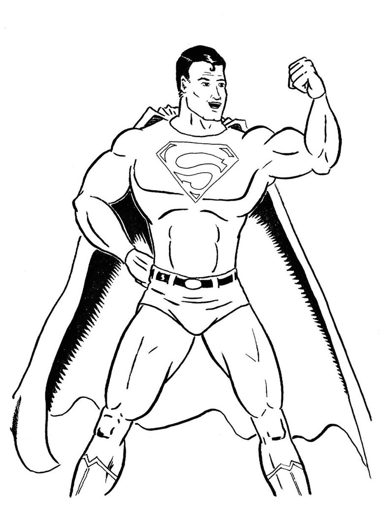 772x1036 Easy Drawings Of Superman