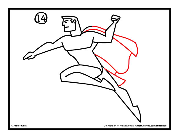 620x479 How To Draw Superman