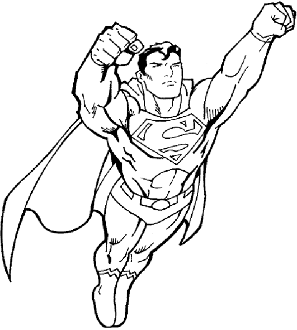 600x667 Superman Flying Clipart