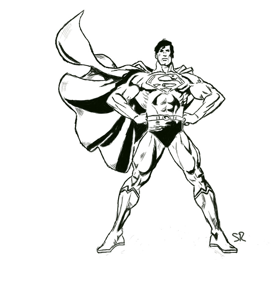 900x986 Superman Sketch By Staticred