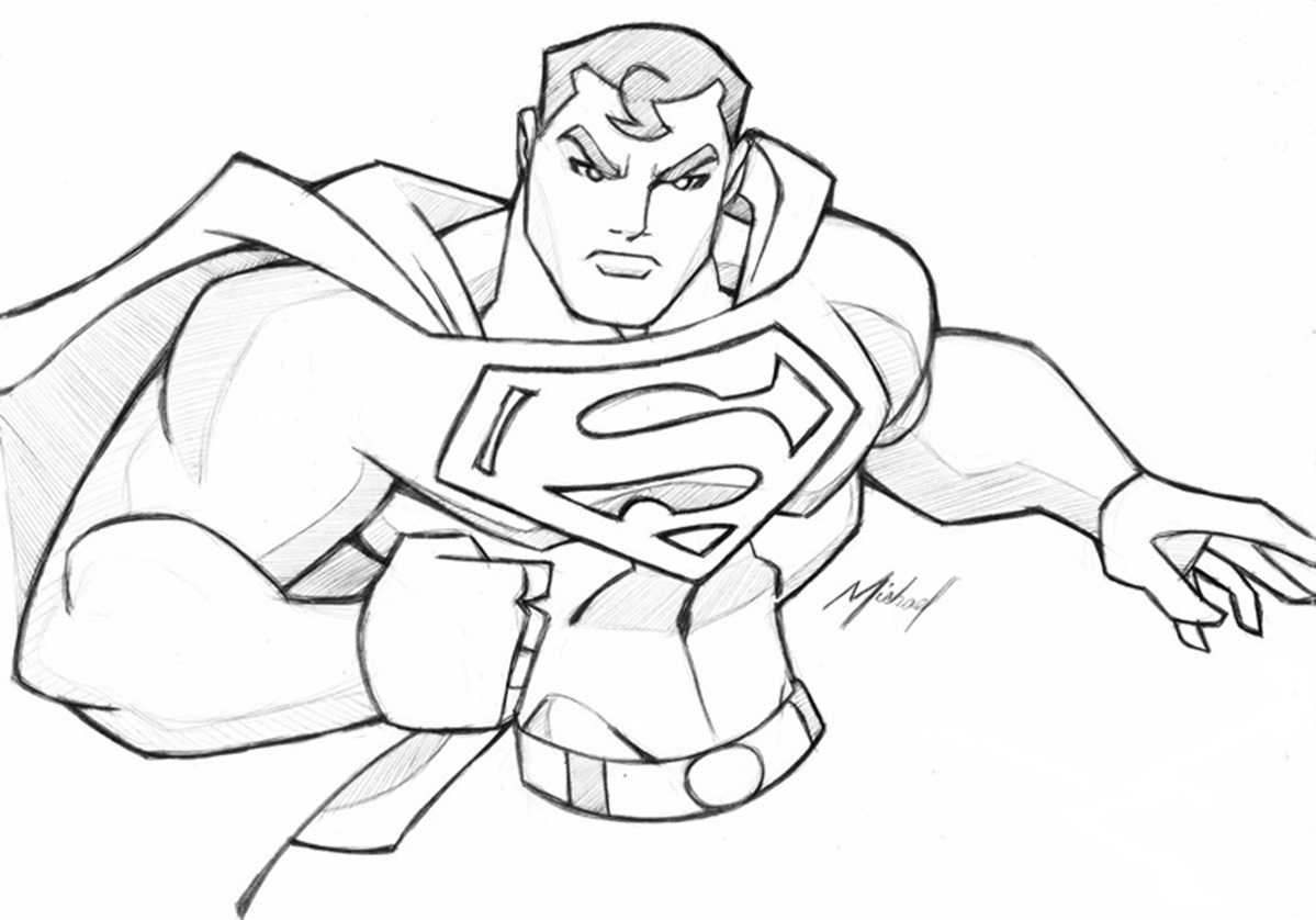 1199x838 Superman Drawings In Pencil Easy Archives