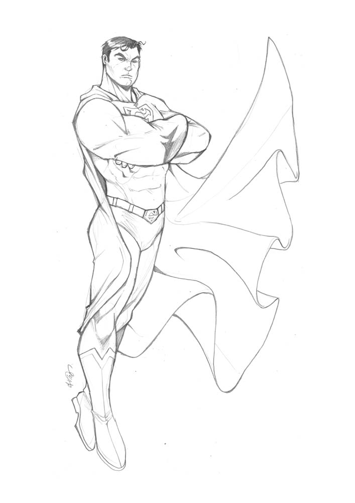 707x1000 Superman Sketch By Deemonproductions