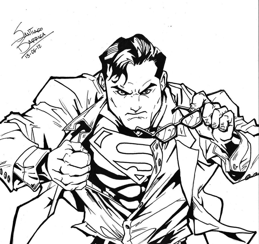 900x848 Superman Sketch By Santiagobarriga