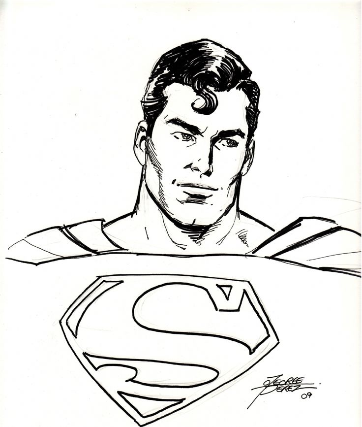 Superman Face Drawing