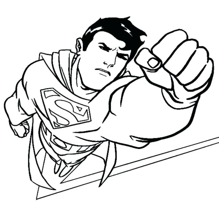 700x688 Free Superman Coloring Pages Superman Coloring Page Superman