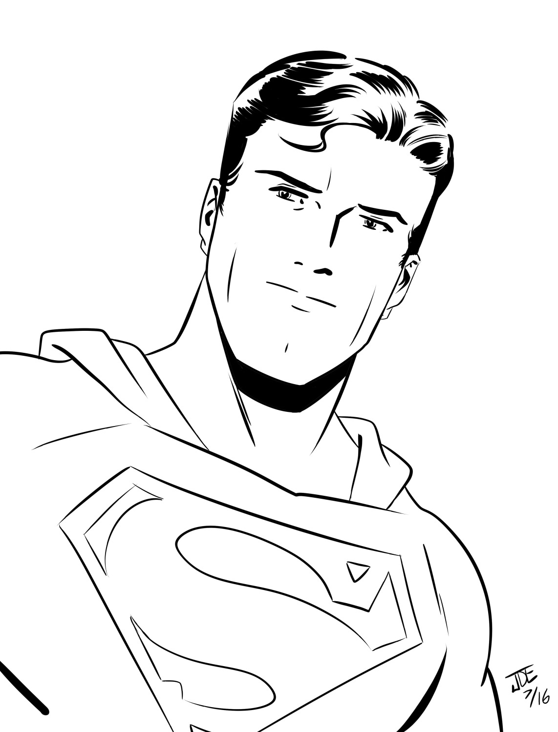 Superman Face Drawing ...