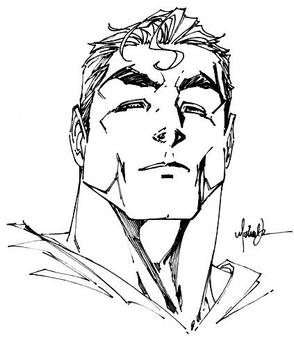 Superman Face Drawing At GetDrawings