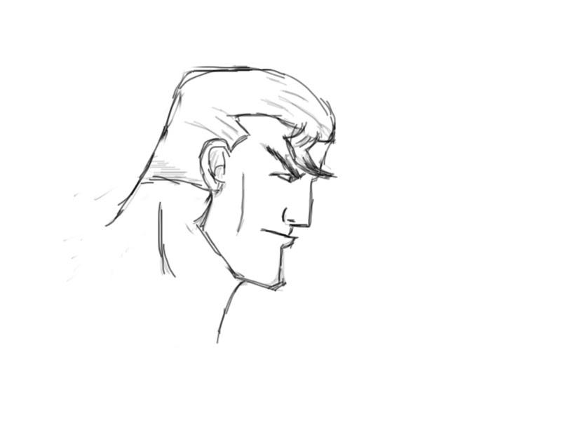 800x616 Superman Head Sketch Antonio Nikoloski