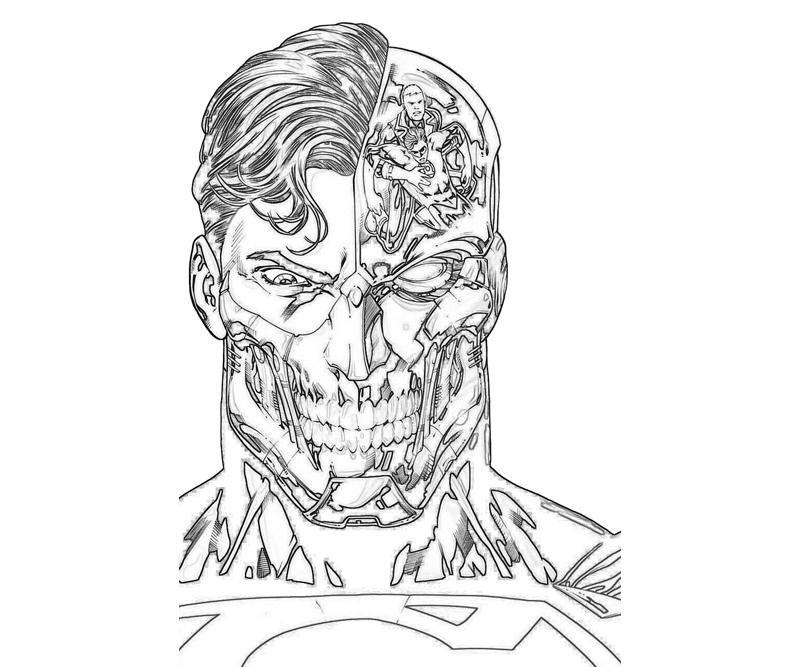 Superman Face Drawing at GetDrawings.com | Free for personal use ...