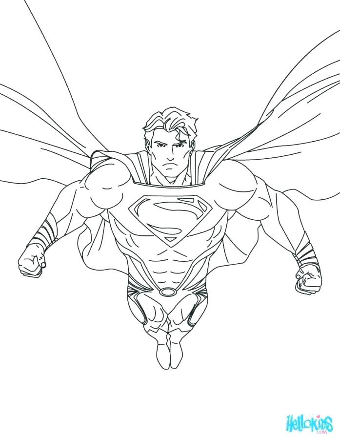 697x901 Printable Superman Coloring Pages Superman Coloring Pages To Print