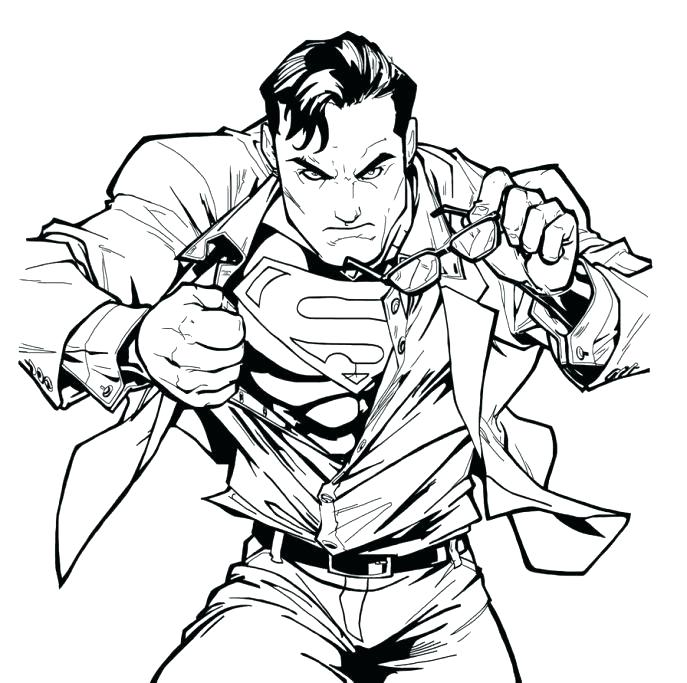 687x683 Superman Coloring Pages Free Superman Coloring Pages Together