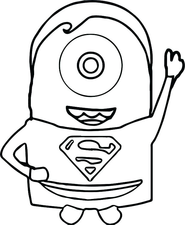 618x752 Superman Logo Coloring Page