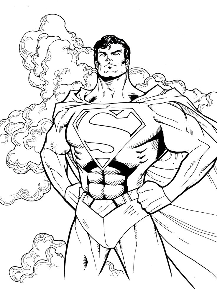 Superman Outline Drawing