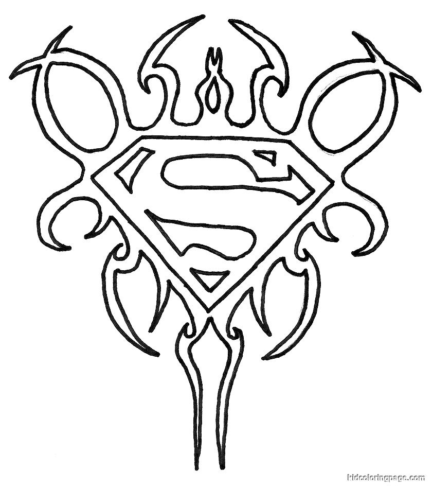 Superman Outline Drawing At Getdrawings Free For Personal Use